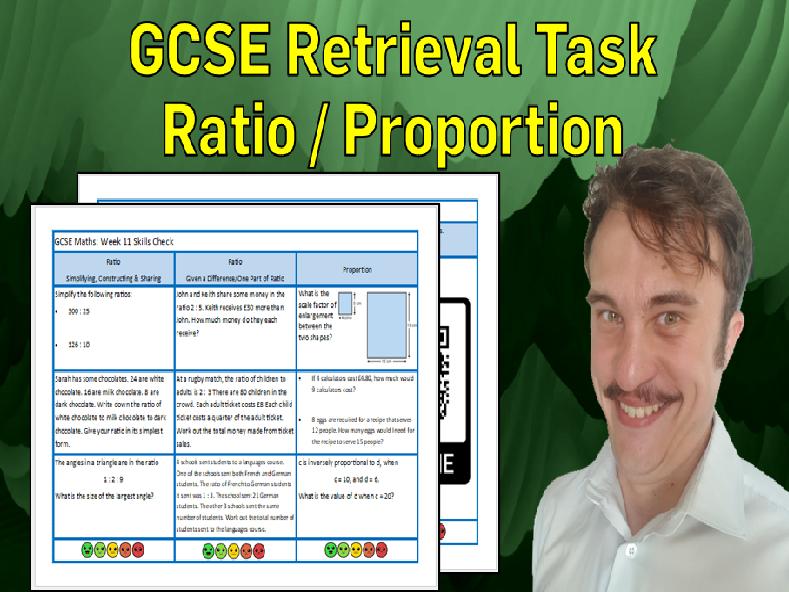 Ratio and Proportion GCSE Foundation/Resit Retrieval Sheet