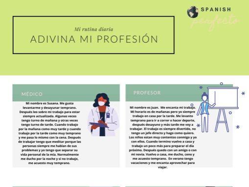 Adivina su oficio. Guess his job