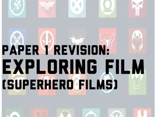 GCSE Film Studies WJEC Paper 1 Superheroes Revision Guide
