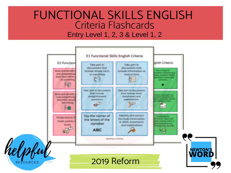 Functional Skills English Criteria Flashcards
