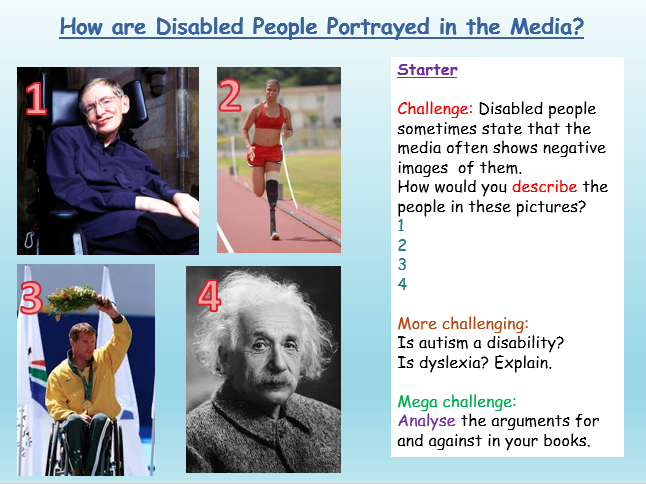 Stereotypes: Disability - CItizenship