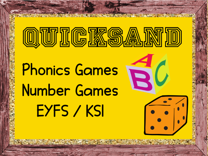 QUICKSAND Phonics and Number Games EYFS / KS1