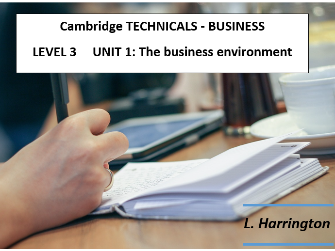 OCR TECHNICALS - Unit 1 - Learning Mat LO1 - LO8