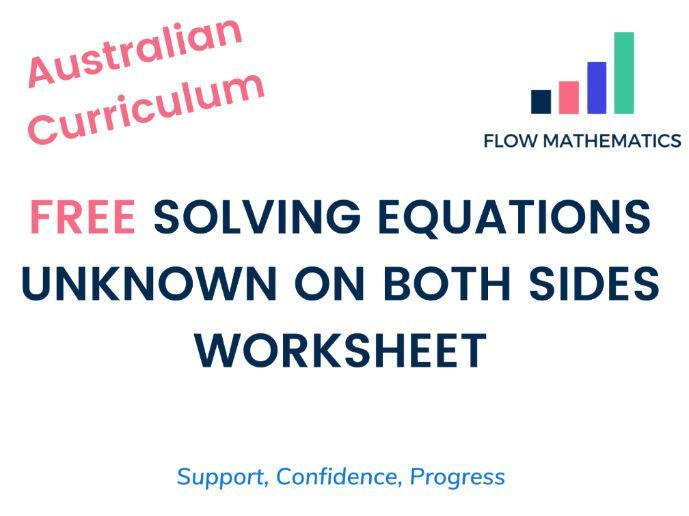 Solving equations - x on both sides (Australian Curriculum)
