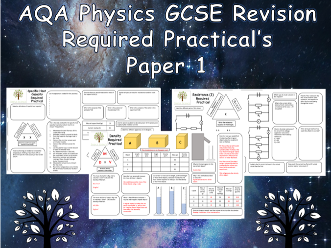 Physics Required Practicals - NEW AQA GCSE Physics Trilogy Paper 1 Revision with Answers