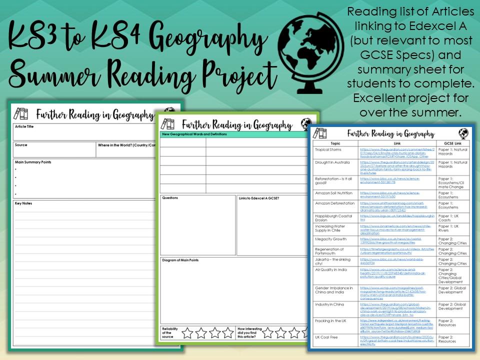 Geography KS3-KS4 Summer Reading Project
