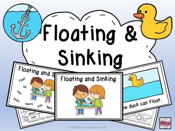 Floating and Sinking Experiments, Activities & Emergent Reader