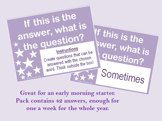 If this is the question... Starter Activity