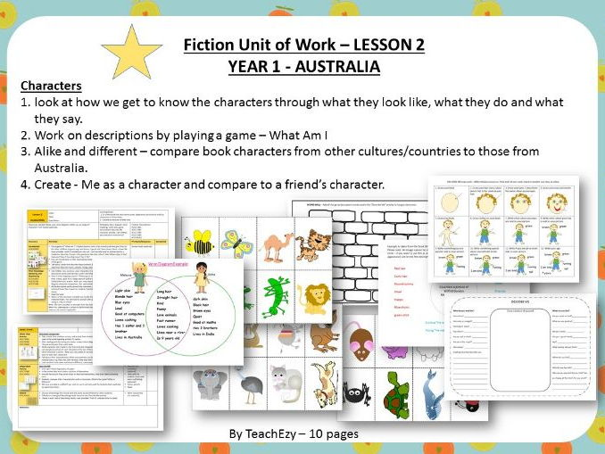 LESSON 2 Characters - Fiction Year 1 Australian Curriculum