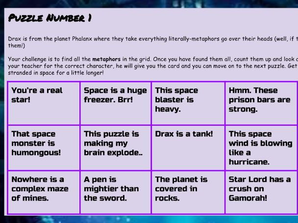 'Guardians of the Grammar-xy' - Making learning grammar out of this world!