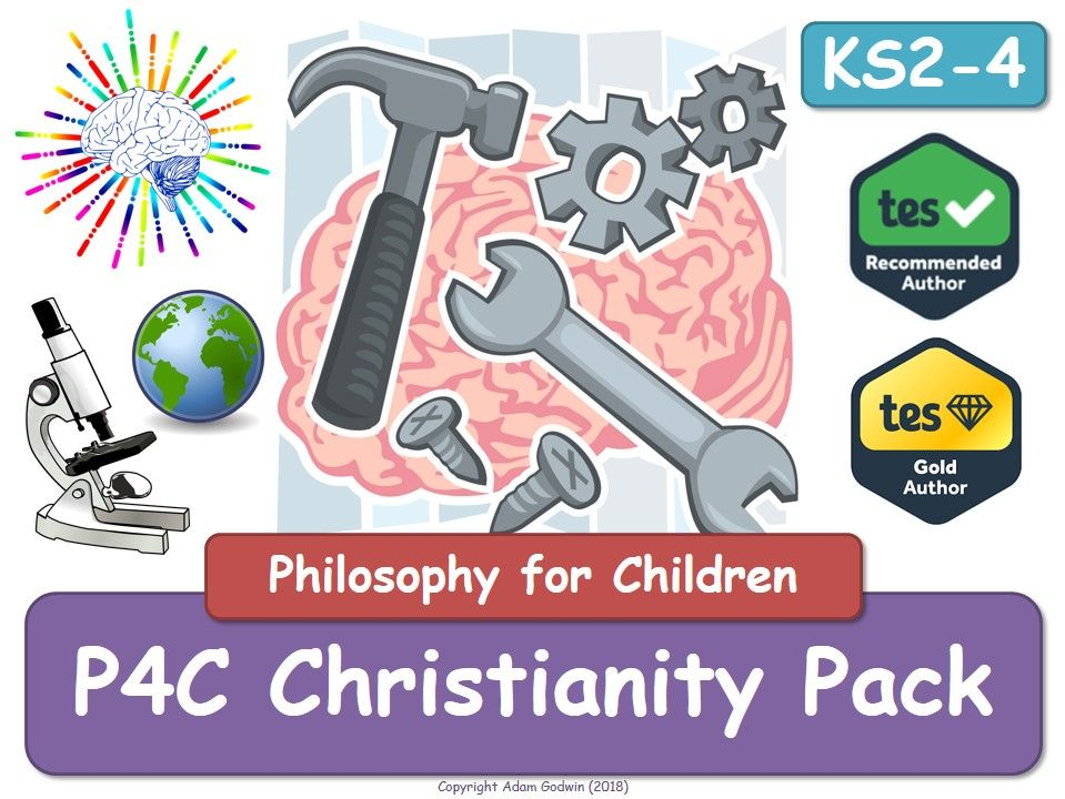 P4C Christianity [x4 Resource Value Bundle] (P4C, Philosophy, RE, RS, P4C, Christianity, ethics, belief, religion, religious, religious studies, religious education, Christian, Tutor, Form,  PSHE]