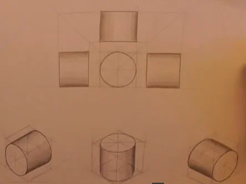 Sketching cylinders in orthographic and isometric