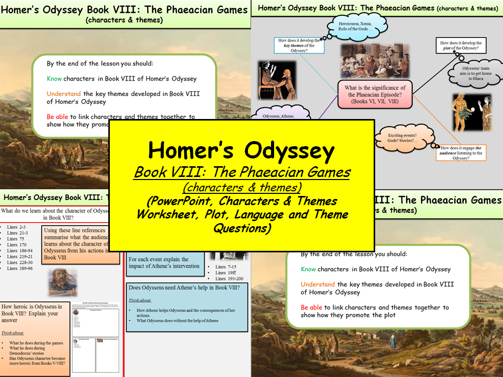Homers Odyssey Book Viii The Phaeacian Games Characters
