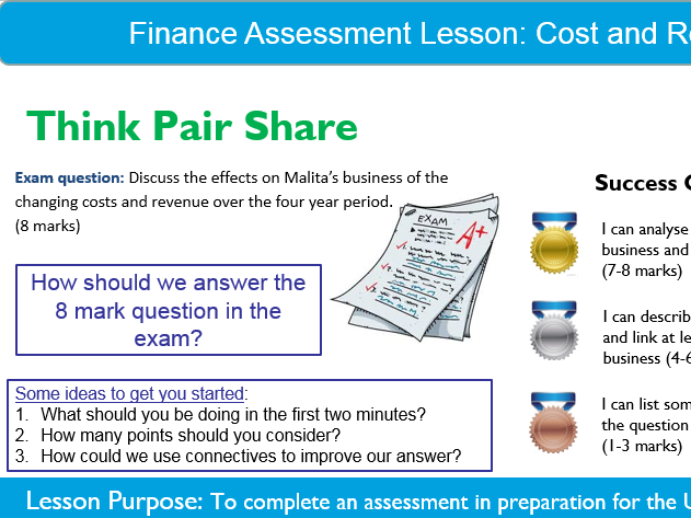 Business: Cost&Revenue Assessment Lesson