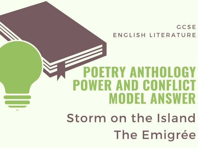 Model Answer: Comparing The Emigrée and Storm on the Island