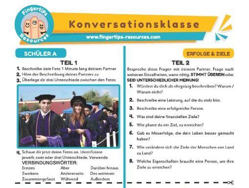 Erfolge & Ziele - German Speaking Activity