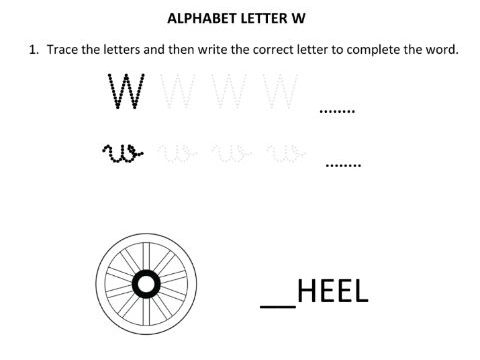 Learning and Writing Letter W for Year 1 Students