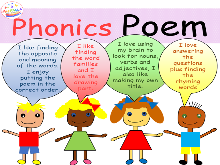 BUNDLE - Poem Activities - Word family - Vocabulary - Grammar - Phonics