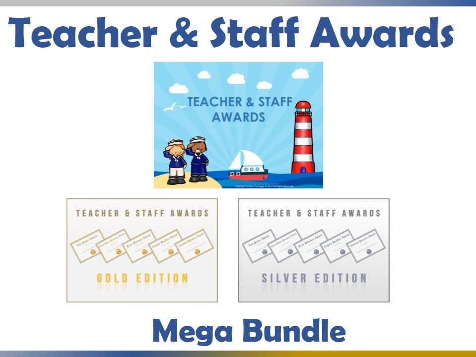 Teacher and Staff Awards Mega Bundle