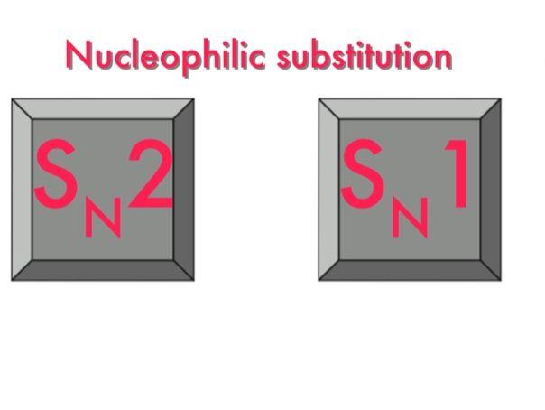 Nucleophilic substitution Sn2 versus Sn1