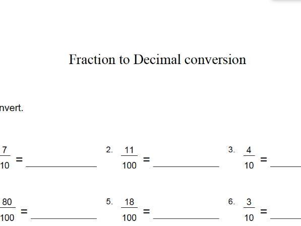 converting fractions to decimals – GCSE mathematics