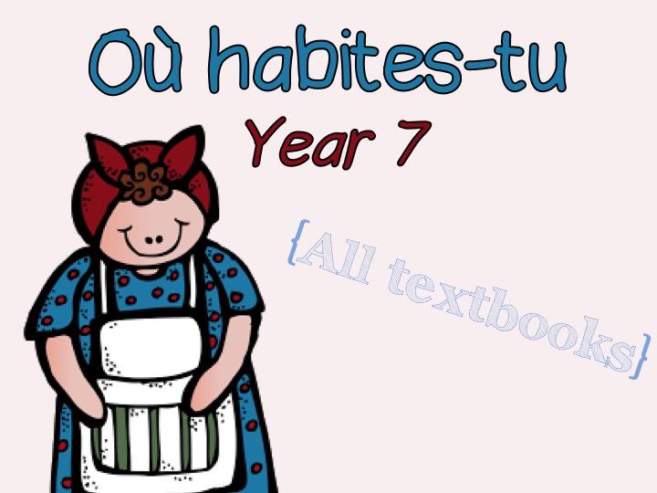 Où habites-tu - Year 7 - French