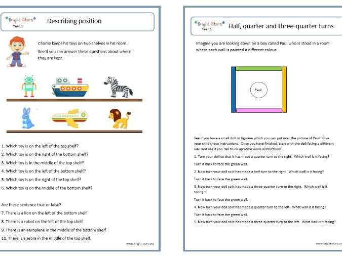 Year 1 Maths Worksheets Pack