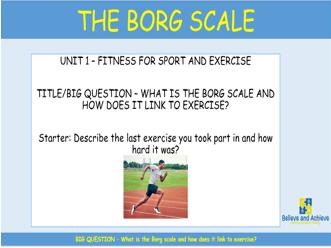 Borg Scale: BTEC Sport level 2 Unit 1 (2018)