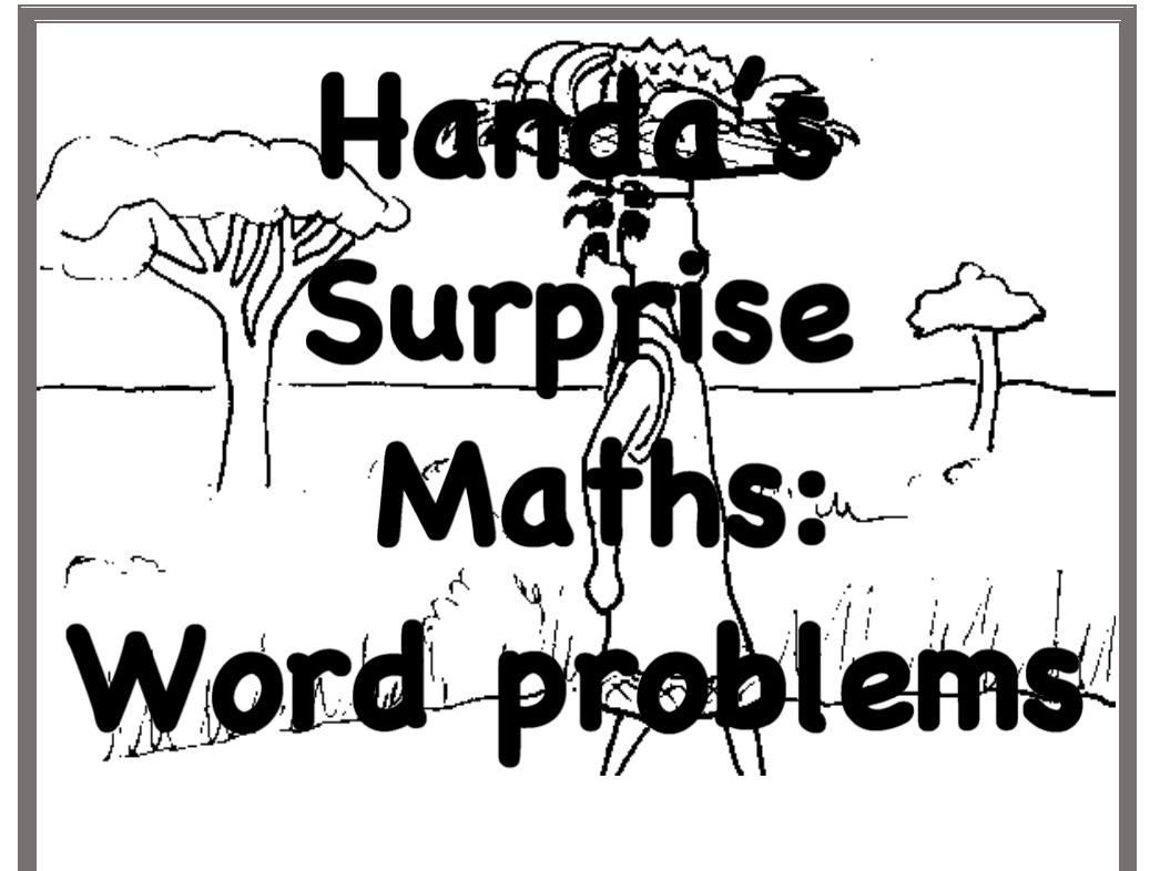 Handa's Surprise: Math Word Problem Solving Bundle Add Subtract Multiply Divide
