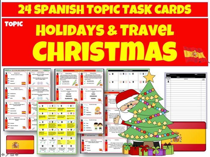 Spanish MFL Christmas Task cards
