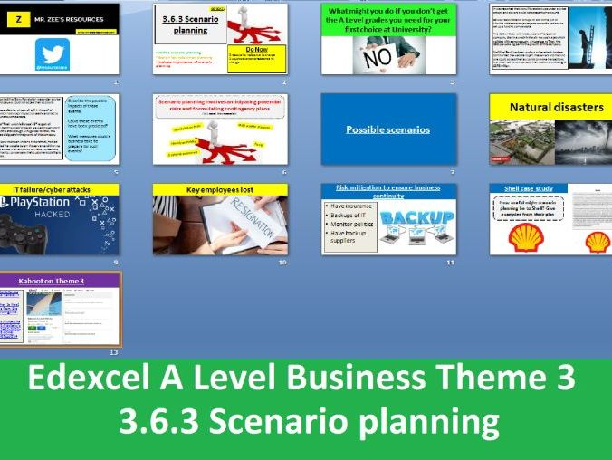 3.6.3 Scenario planning - Theme 3 Edexcel A Level Business
