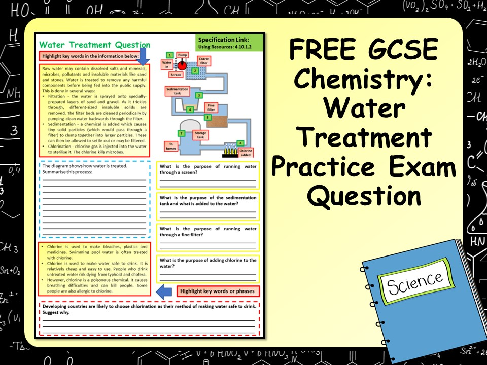 FREE GCSE Chemistry (Science) Water Treatment Practice Exam