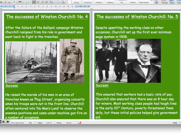 Winston Churchill's successes and failures