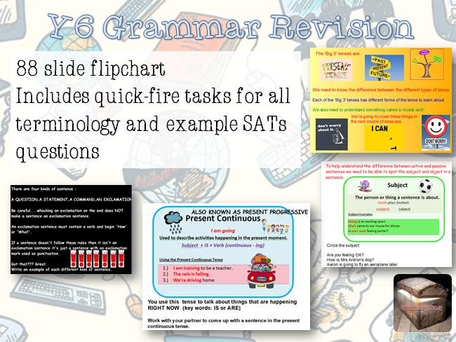 88 Slide Y6 GRAMMAR REVISION Flipchart SATs
