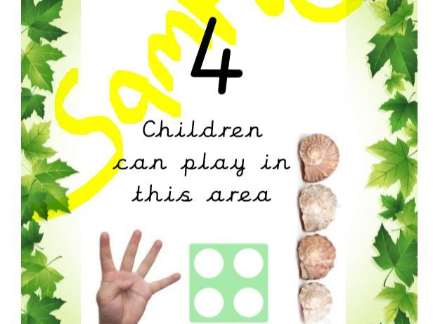 EYFS 4 Can Play Here sign