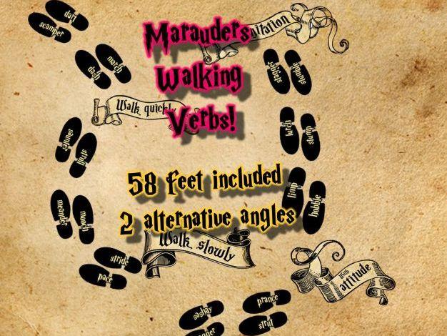 Marauder's Map Walking Verbs