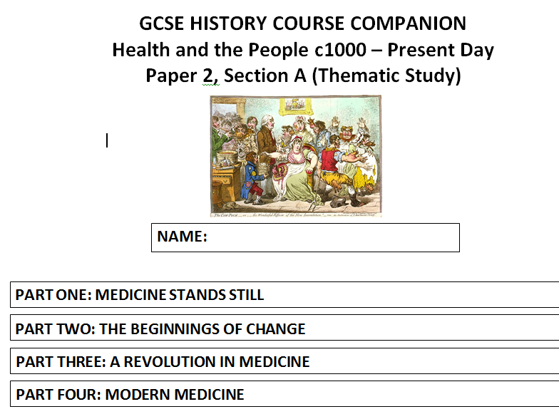 AQA (9-1) GCSE History - Health and the People - Part One