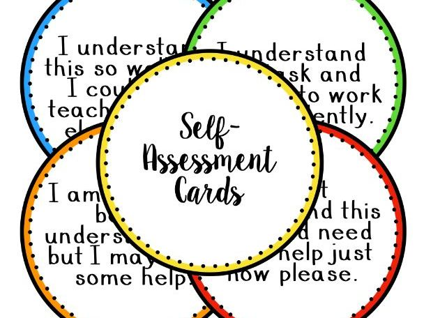 Self Assessment Cards - English