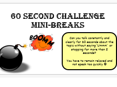60 Second Mini Breaks (can be used as starters and plenaries)