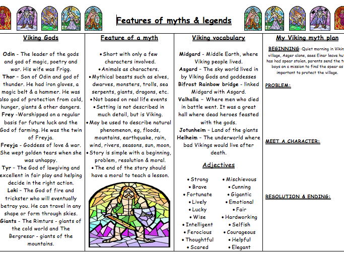 Myths Legends Vikings By Andytheedom Teaching Resources Tes