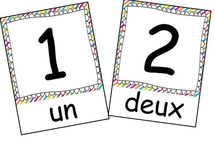 French flashcards: 1-20
