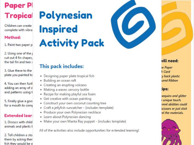Polynesian inspired ideas ¦ Early years activity bundle