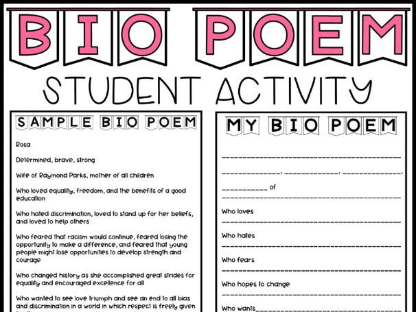 Bio Poem Lesson