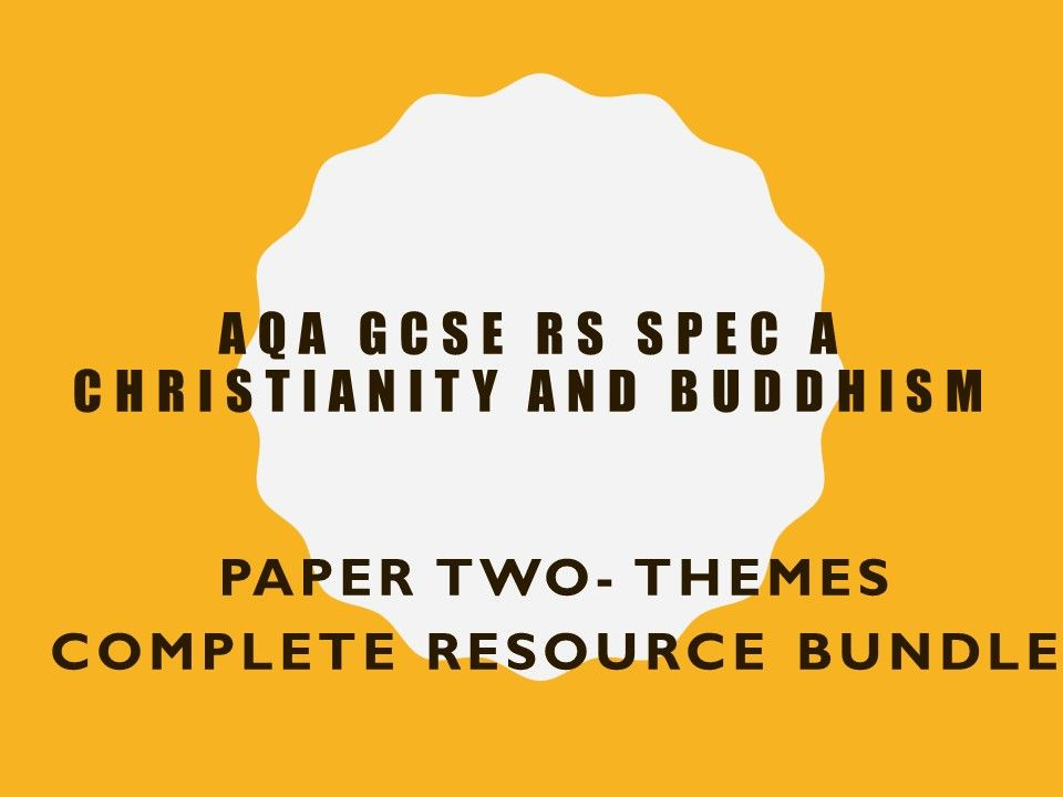AQA RS GCSE Christianity and Buddhism complete resource for Paper Two