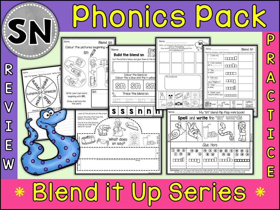 Phonics: Phonics Blend SN