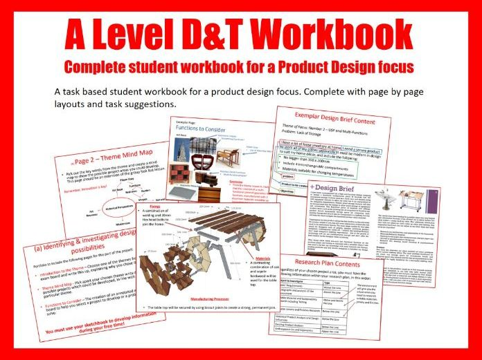 A Level Design and Technology Workbook & Resources