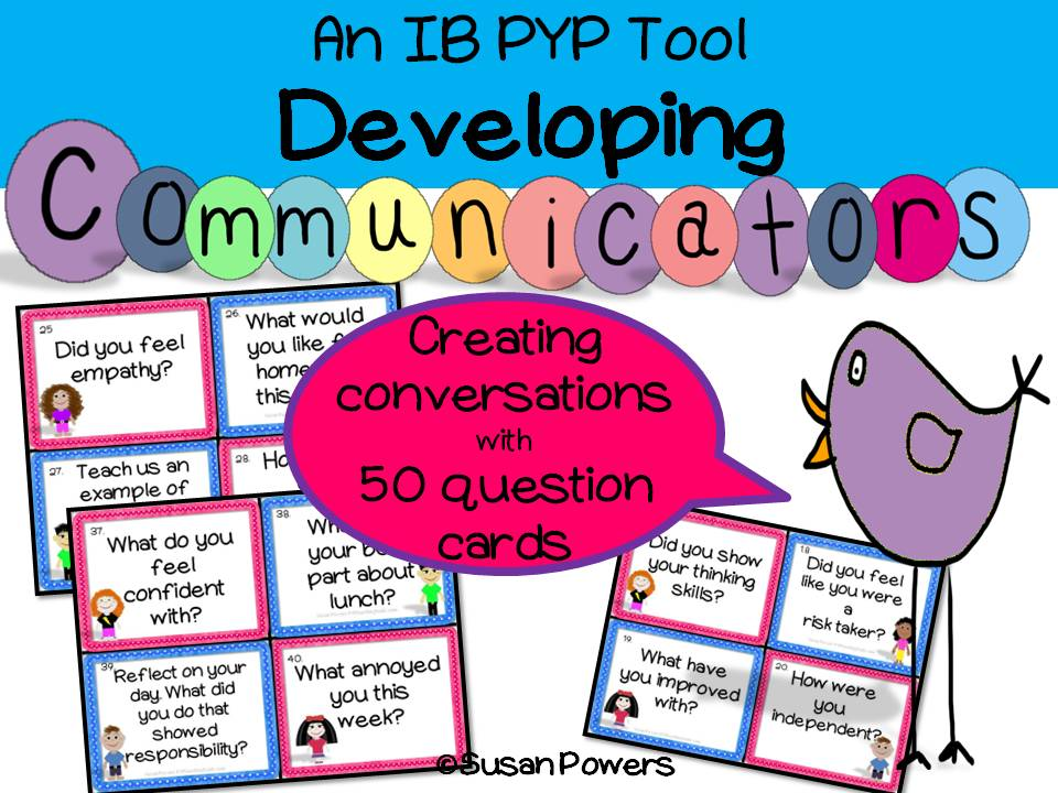 Developing Communicators -The Art of Conversation Task Cards Activity with IB PYP