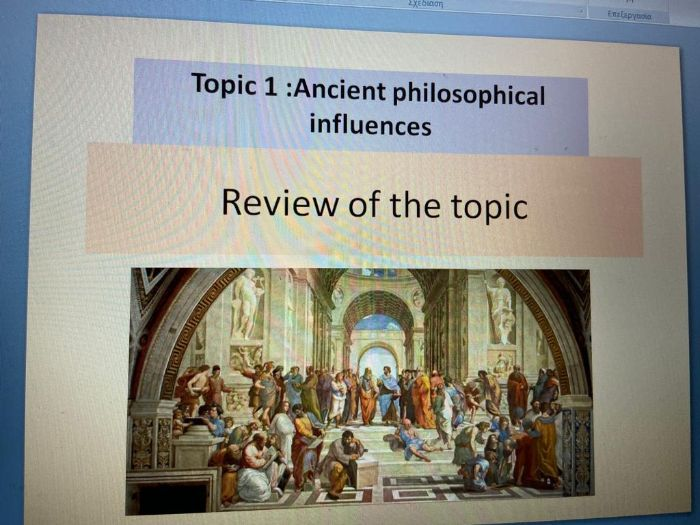 OCR A LEVEL : Ancient Philosophical Influences revision and exam questions