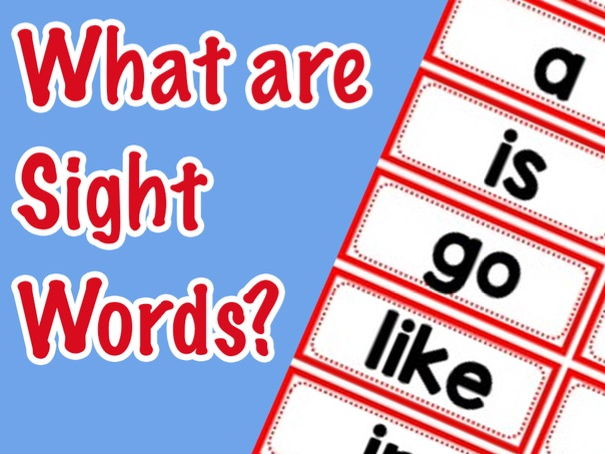 What are Sight Words? | High Frequency Words