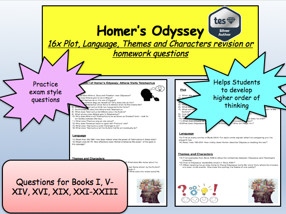Homer's Odyssey: Plot, Language, Themes and Characters Revision or Homework Questions: